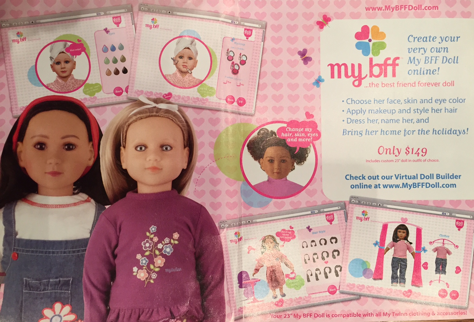 Online eye color changer - A Fun Way Of Seeing The Evolution Of The My Twinn Company Is Through Their Catalog Covers Which Thanks To Retired Denver My Twinn Doll Artist Connie